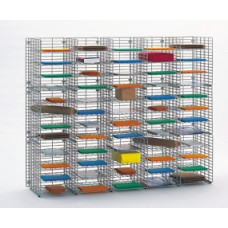 """Mail Room Sorters and Office Organizers 60""""W x 12""""D, 60 Pocket Wire Mail Sorter - FREE Quantity Shipping!"""