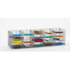 "Mail Sorters and Office Organizers 60""W x 15""D, 20 Pocket Wire Mail Sorter- FREE Quantity Shipping!"