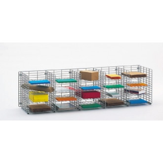 """Mail Sorters and Office Organizers 60""""W x 15""""D, 20 Pocket Wire Mail Sorter- FREE Quantity Shipping!"""