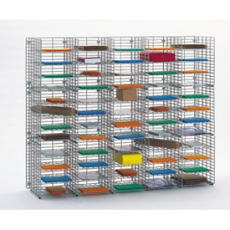 "Mail Room Sorter and Office Organizers 60""W x 15""D, 60 Pocket Wire Mail Sorter - FREE Quantity Shipping!"