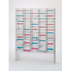 "Mail Room Sorter and Office Organizers 60""W x 12""D, 80 Pocket Wire mail Sorter with Riser - Letter Depth"