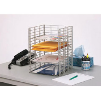 "Office Organizers and Mail Center Sorters 4 Pocket Wire Desk Top Organizer - 12""D"