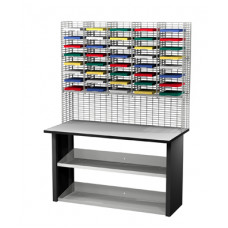 "Mail Room Sorters and Office Organizers 40 Pocket Wire Mail Sorter with Riser, Legal Depth 15""D and Economy Table"