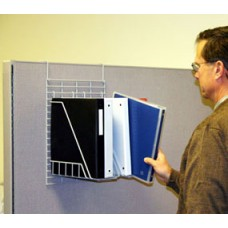 Wire Place Office Organizer and Mail Room Sorter Hook-on Cubicle Binder/Book Holder