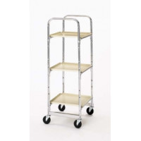 Triple tier Compact Office Mail and File Cart Frame