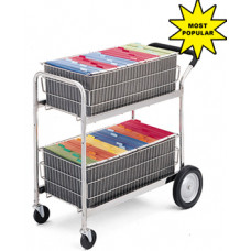 Mail Delivery Cart with 2 Removable File Baskets