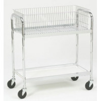 Medium Basket Utility Mail or Office Cart