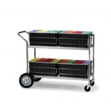 Mail Distribution Cart and Office Carts with 4 File Folder Lift Out Baskets