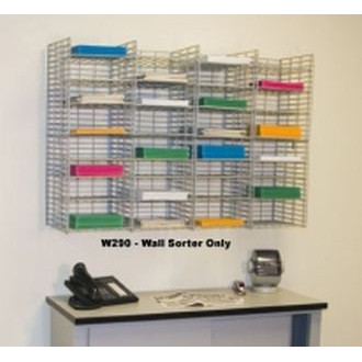"Mail Room Sorter and Office Organizer Wall Mount 32 Pocket Wire Mail Sorter - 15""D"