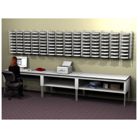 Mail Room Sorting System 112 Pocket Wall Mount Wire