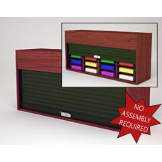 "Mailroom Security Sorters in Custom Color Wood 52-1/4""W Wood Sorter - 16 Adjustable Mail Sorting Pockets"