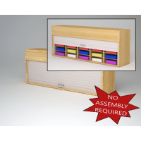 "Mailroom Security Sorters in  Wood 64-1/2""W Wood Sorter - 20 Pocket."