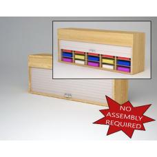 "Mailroom Security Sorters in  Wood 64-1/2""W Wood Sorter - 20 Pocket."