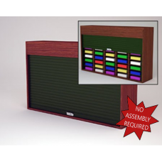 "Mailroom Security Sorters in Wood 64-1/2""W Wood Sorter - 40 Pocket."