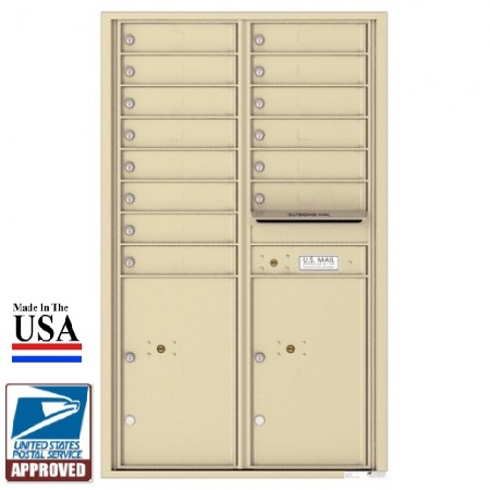 14 Tenant Doors With 2 Parcel Lockers And Outgoing Mail Compartment 4c Wall Mount 14 High