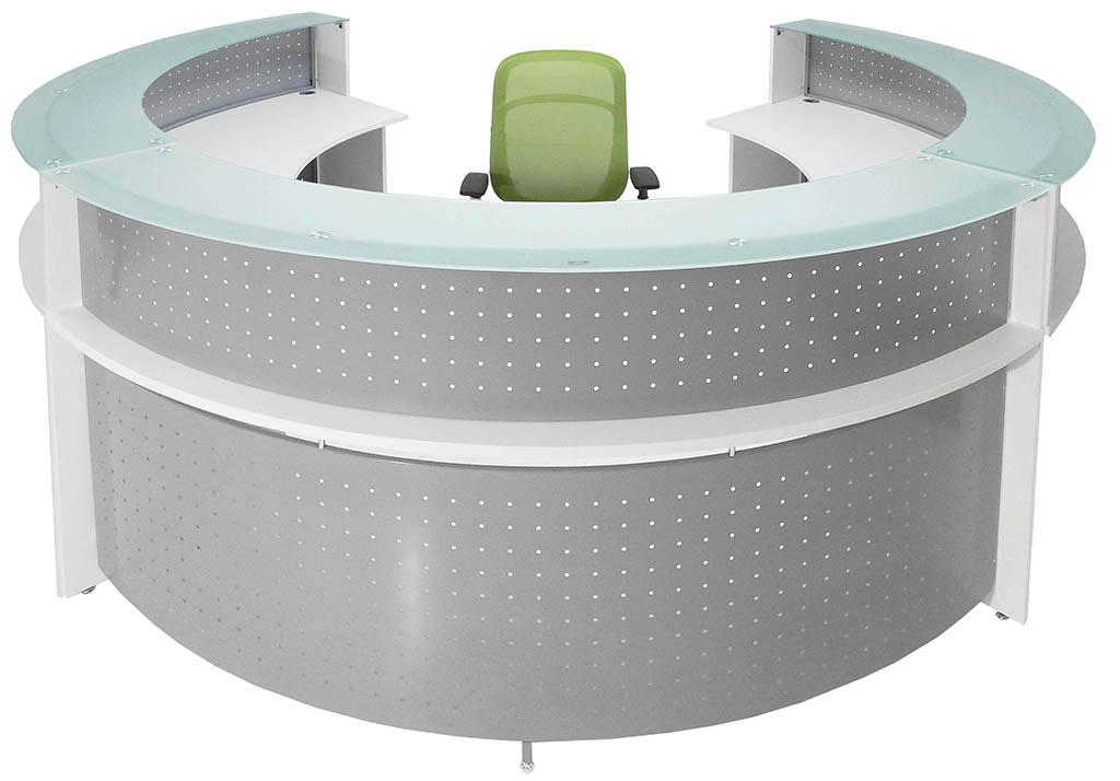 White Semi Circle Gl Top Reception